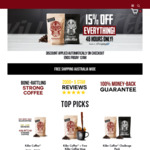 Afterpay Day: 15% off Storewide @ Killer Coffee Co