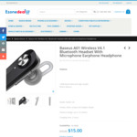 Baseus A01 Wireless V4.1 Bluetooth Headset $15 + Shipping @ EzoneDeal