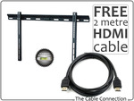 """OZB Special - 32"""" - 60"""" Ultra Slimline TV Wall Mount for LED/LCD/Plasma & 2m HDMI Cabl - $16"""