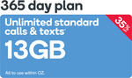 Medium Plan - 13GB | 365 Days $194.50 (Was $205.60) @ Kogan Mobile