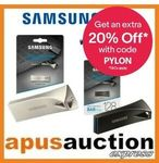 Samsung Bar Plus Silver 32GB $15.16, 64GB $22.36, 128GB $38.36, 256GB $69.96 + $9.99 Delivery @ Apus Auction eBay