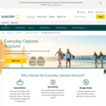 Suncorp Everyday Options Transaction Account: $0 Account Keeping Fees for Life @ Suncorp