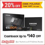 Samsung 970 EVO Plus 500GB M.2 NVMe SSD $143.20 Delivered (+ $22 Cashback via Redemption) @ Budget PC eBay