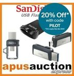 SanDisk Ultra Dual Drive USB Type-C 64GB $19.16, 128GB $39.99 + Free Shipping @ Apusauction eBay