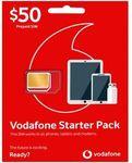 Vodafone $50 Starter Pack (Prepaid) $20 @ Officeworks
