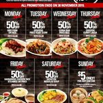 [VIC]  50% off Daily Dish Opening Specials from $6.95 @ China Bar Doncaster