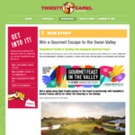 Win 1 of 8 Double Passes to Gourmet Feast in The Valley from Thirsty Camel Bottleshops and Sandalford Wines [WA]