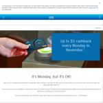 [NSW] Citibank - $5 Cashback on Sydney Public Transport Every Monday in November