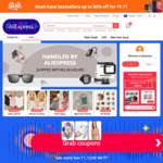 AliExpress 11/11 Sale: $4 off $5 US (New Accounts), $3 off $25 US, $8 off $60 US, $10 off $100 US Sitewide @ AliExpress
