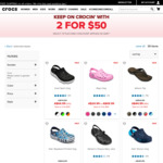 Crocs 2 for $50 + Free Economy Shipping on All Orders over $50 @ Crocs Australia