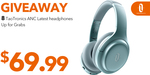 Win 1 of 8 TaoTronics ANC Headphones ($69.99 Value) from TaoTronics