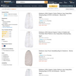 Newborn Packs, Transitional Swaddles & Baby Sleeping Bags 40% off (Delivery $0 /W Prime or $39 Spend) @ Bubbaroo Amazon