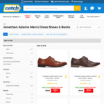 Jonathan Adams Men's Dress Shoes $11.99 + Delivery @ Catch.com.au