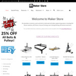 25% off All Belts and Pulleys @ MakerStore.com.au
