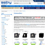 Sonos Sub - 15% off When Buying 2 or More - $1427 ($714 Each) (RRP - $999) @ Selby