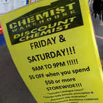 [VIC] $5 off $50 Spend (Friday & Saturdays) @ Chemist Warehouse Carnegie