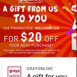 $20 off $40 Spend @ GraysOnline