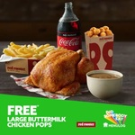 Free Large Buttermilk Chicken Pops with any Family Meal Purchase @ Red Rooster via Menulog