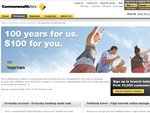 $100 Bonus for Opening a Commbank Everyday Account and a Netbank Saver Account Together