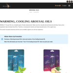 Free Cooling Arousal Oil with Purchase of a Warming Arousal Oil ($29.95) + Free Shipping over $50 @ Wildfire Oil