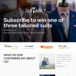 Suitably.com.au - Win 1 of 3 Custom Made Suits Valued at $799