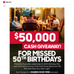 Win 1 of 50 $1000 Cash Prizes from Pizza Hut [Australian Residents Born in 1970 Only]