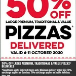 50% off Large Premium, Traditional, and Value Pizzas (Excludes Half n Half) [Delivery Only] @ Domino's