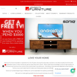 """[VIC, NSW, QLD] Free 43"""" Soniq TV with Purchases over $3,000 Johnny's Furniture"""