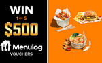Win 1 of 5 $500 Menulog Vouchers from Nine Network