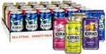 Kirks Variety Soft Drink Multipack Cans 30 x 375mL $15.49 + Delivery ($0 with Prime/ $39 Spend) @ Amazon AU