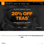 20% off All Teas + 50% off Selected Items (Online and in-Store) @ T2