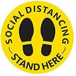 """12"""" 10pk Social Distancing Stickers $7.84 + Delivery ($0 with Prime $49 Spend) @ Amazon US via AU"""