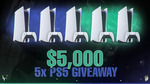 Win 1 of 5 PS5 or $1000 in BTC from Fossy