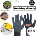 Multi-Purpose Work Gloves (Sizes 10 & 11) - 10 Pairs for $29.95 Delivered @ Whsafe.store