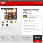 Masterbuilt 560 Gravity Fed Smoker Only $999 (Save $300) @ Barbeques Galore