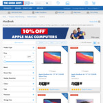10% off Apple Computers @ The Good Guys (e.g. MacBook Air 256/8GB $1439, or $1367 with Officeworks Price Beat)