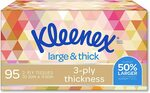 Kleenex Everyday Plus Large & Thick Facial Tissues Pack of 95 $1.30 ($1.17 S&S) + Delivery ($0 with Prime/ $39 Spend) @ AmazonAU