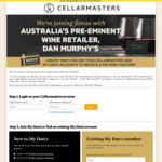 $30 Wine Voucher for Customers Who Joined before 31st May 2021 @ Cellarmasters