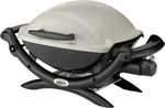Weber Baby Q Titanium/Black LPG BBQ $259 + Delivery or Free Pickup @ The Good Guys