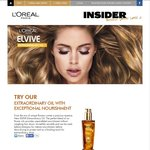 Free Elvive Hair Oil from L'Oréal