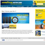 Goodyear Tyre Offer. 4 for The Price of 3