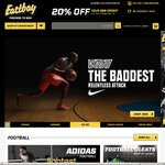 Eastbay 20% off Orders over $99