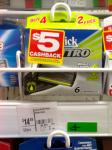 6 Schick Quattro Cartridges $9.49 after $5 Cashback @ Coles
