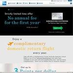 AMEX Platinum Edge CC. $0 Annual Fee (First Year). Free Return Flight & 5000 Bonus Points