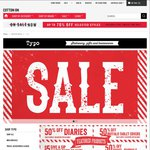 50% off Diaries, Buffalo Tablet Covers, Travel Journals + more - Typo