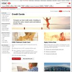 HSBC Platinum Credit Card $0 Annual Fee for Life. 0% BT for 8 Months