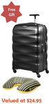Samsonite Engenero Combo 75cm Spinner Black with Travel Pillow $220.40 Delivered @ Luggage Gear