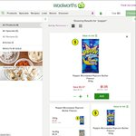 Buy 14 Poppin Microwave Popcorn 100g for $1 Each ($14), Get $10.08 Woolwoths Dollars @ Woolworths (WR Card Required)
