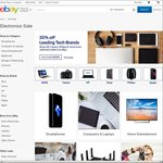 20% off Tech at Participating Stores @ eBay