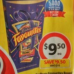 ½ Price Cadbury Favourites 540g $9.50 @ Coles + a Free Movie Ticket by Redemption